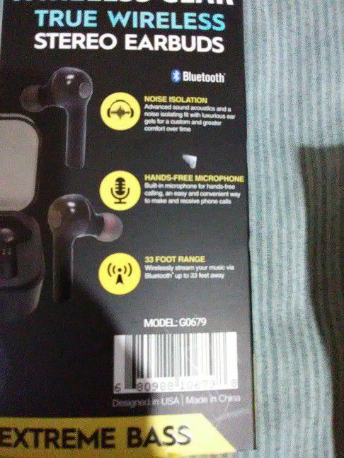 True wireless Earbuds Extreme bass,