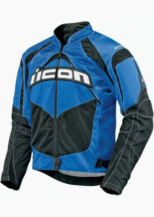 ICON Contra Textile Motorcycle Jacket (Blue) (4XL) for Sale in Aspen Hill, MD