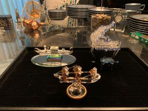 Decorative Crystal set of 3 pieces for Sale in Bloomfield Hills, MI