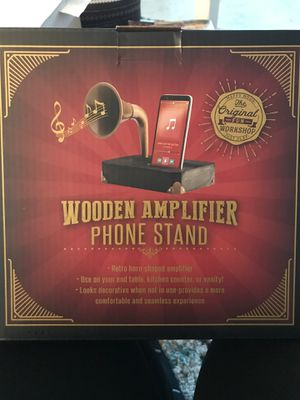 Wooden Amplifier Phone Stand. New in box never opened for Sale in Pittsburgh, PA