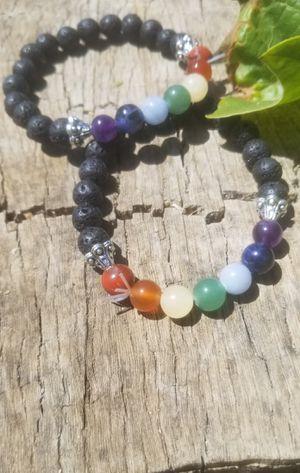 Chakra Lava Crystal Bracelet for Sale in Riverside, CA