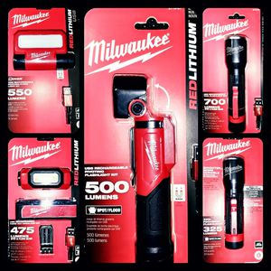 Milwaukee Tools Flashlight Variety Combo for Sale in Powder Springs, GA