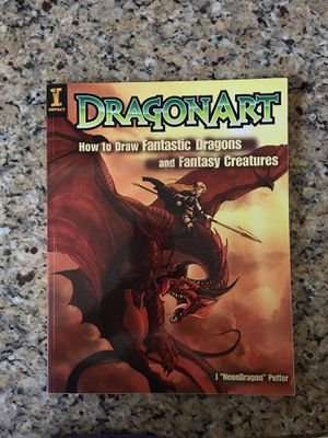 """Dragon Art- Impact- How to draw Fantastic Dragons and Fantasy Creatures by J """"NeonDragon"""" Peffer. Excellent Condition. Asking $3 for Sale in Litchfield Park, AZ"""