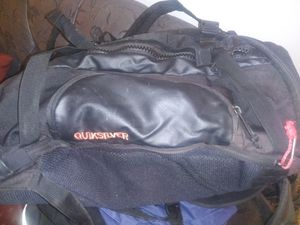 Quick silver leather duffle pack bag with lots of compartments.its a duffle and back pack all in one for Sale in Long Beach, CA