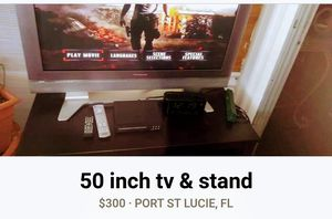 50 inch tv and stand for Sale in Fort Pierce, FL