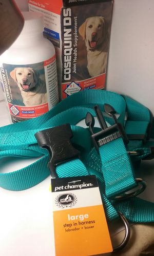 Large dog step in harness and a Bottle of CosequinDs for joint health has 55/60 tablets left for Sale in Phoenix, AZ