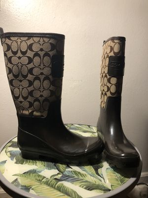 Rain boots Coach for Sale in Takoma Park, MD