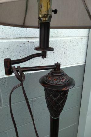 Faux Finished Ornate Adjustable Floor Lamp for Sale in Manhattan, NV