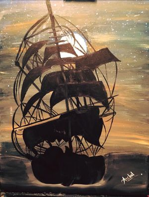 Sailing Ship Painting Canvas for Sale in Tampa, FL