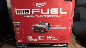 Milwaukee FUEL table saw for Sale in San Antonio, TX