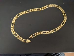 14 karat gold plated link chain necklace for Sale in St. Cloud, FL