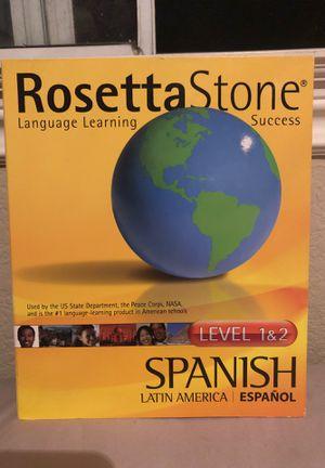 Rosetta Stone Spanish Level 1 & 2 for Sale in Temecula, CA