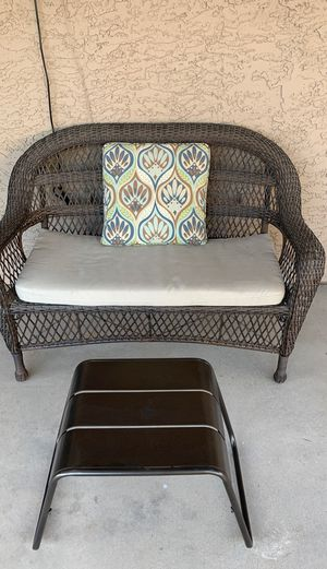 Wicker loveseat and ottoman for Sale in Phoenix, AZ