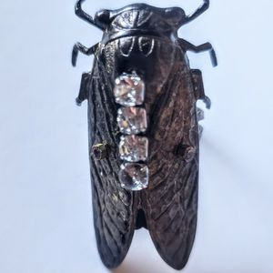 Statement Cicada Ring, Adjustable Band for Sale in Pasadena, CA