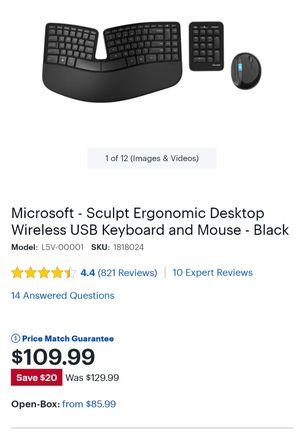 Sculpt ergonomic USB black wireless keyboard and mouse for Sale in Phoenix, AZ