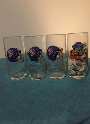 Collectible Denver Broncos throwback glasses for Sale in Aurora, CO