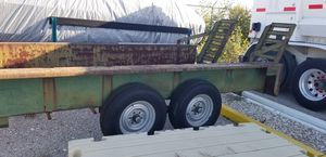 HEAVY DUTY TRAILER WITH RAMPS FOR SALE for Sale in Deer Park, TX