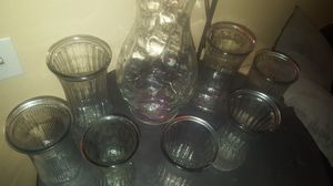 Lot of 8-Large Glass Flower Vases for Sale in Las Vegas, NV