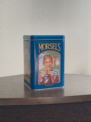 Vintage 1980's Limited Edition Tin Can Box Nestle Toll House Morsels Cookie Jar for Sale in Peoria, AZ
