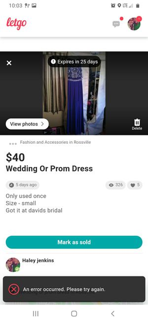 Prom dress for Sale in Rossville, GA