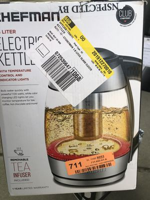 Chefman Electric Kettle (Tea Time) for Sale in Hanford, CA