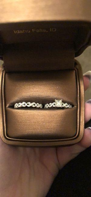 14k white gold wedding set for Sale in Idaho Falls, ID