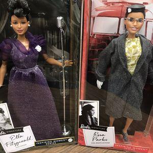 2 Barbie Signature Inspiring Women Series: Ella Fitzgerald and Rosa Parks for Sale in Altadena, CA