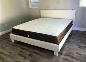 *NEW* Platform Bed Frame With Slats - No Box Spring Required for Sale in San Francisco, CA