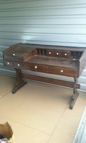 Midcentury solid wood desk for Sale in Houston, TX