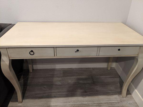 Off white wood desk
