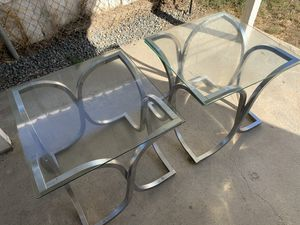 Two beautiful modern end glass tables for Sale in Chino Hills, CA