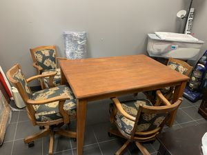 Table with poker card chairs for Sale in Fullerton, CA