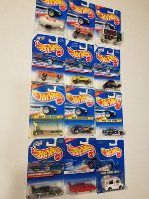 Hot Wheels cars photo finish series 1998 first editions race team series 1996 first editions Good Humor truck flying Aces series for Sale in Kissimmee, FL