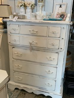 Refinished Tall White Farmhouse Dresser for Sale in Bonney Lake,  WA