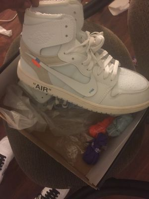 Air Jordan's offwhite nrg size men's 10 and womens 11-1/2 for Sale in St. Louis, MO