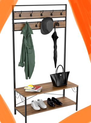 New!! Hook organizer, 9 hooks entryway organizer w shelves, organizer, storage unit, hanger , entry hanger for Sale in Phoenix, AZ
