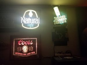 Bar lights beer signs for Sale in Tempe, AZ