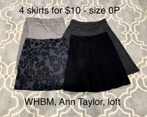 4 skirts 0P XS - WHBM, Ann Taylor, Loft for Sale in Cupertino, CA