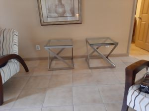 Glass top end tables for Sale in Indio, CA
