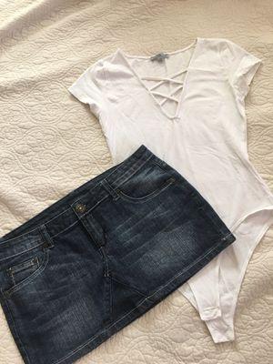 Bodysuit & Jean skirt for Sale in Phoenix, AZ