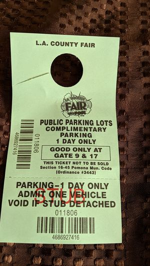 Free parking pass today is the last day u can use it for Sale in Bloomington, CA