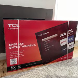 TCL 55 Inch 4K Roku Tv (new) for Sale in Seattle, WA