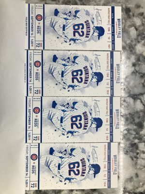 Chicago Cubs Tickets !! Great seats !! Cheap for Sale in Bloomington, IL