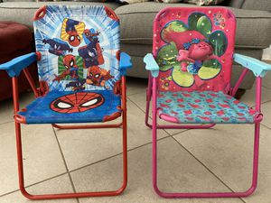 Kid folding - camping chairs for Sale in Peoria, AZ