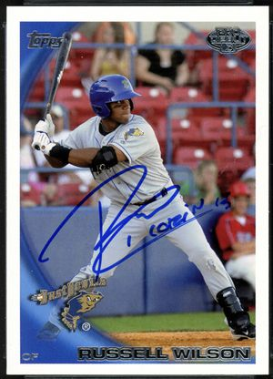 Russell Wilson 2010 autographed baseball card for Sale in Federal Way, WA