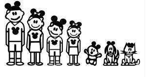 Custom Disney family car decals for Sale in Avondale, AZ