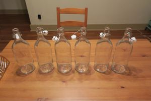 6 Glass Bottles with Stoppers for Sale in Pittsburgh, PA