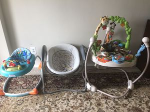 Baby walker, baby swing and jumping. Just used for seven month it's like new yet. For $100 for Sale in Chillum, MD