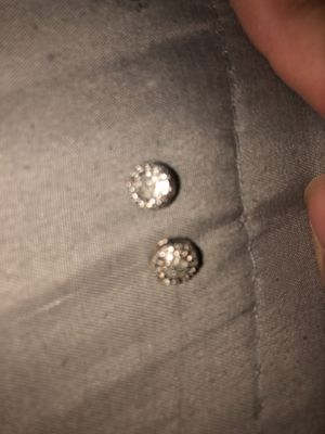 Silver diamond earrings for Sale in Lakewood, OH