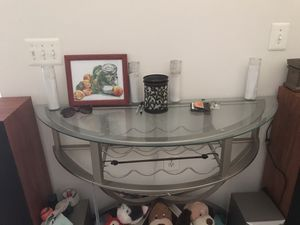 Wine glass entry table for Sale in Sterling, VA